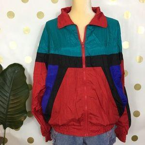 Vintage 90's windbreaker colorblock